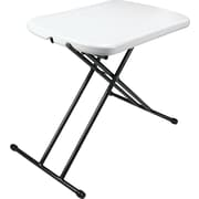 Staples® Multi-Purpose Resin Personal Folding Tray Table, Grey