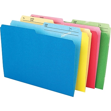 Pendaflex® CutLess® File Folders, Letter Size, 8-1/2
