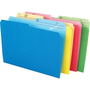 "Pendaflex® CutLess® File Folders, Letter Size, 8-1/2"" x 11"", Assorted Colours, 24/Pack"