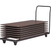 GlobalMD – Chariot pour tables pliantes, noir