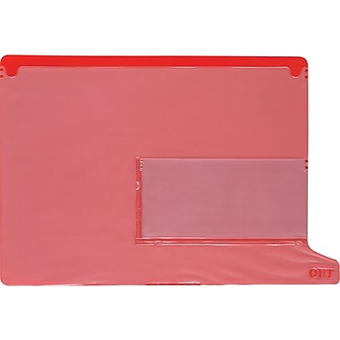 Smead® Vinyl End-Tab Out Guides, Red, 2-Pocket