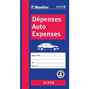 Blueline® Auto Expenses Book, Bilingual