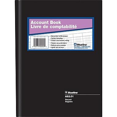 Blueline® - Livret à colonnes A82-01, registre