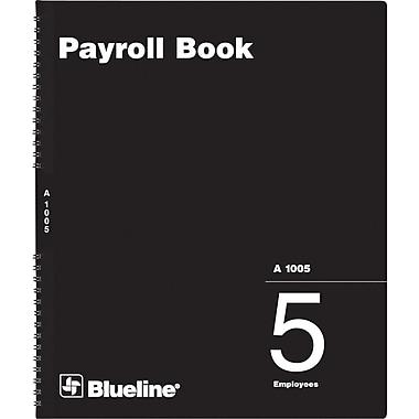 Blueline® - Livres de paie, A1005, 5 employés