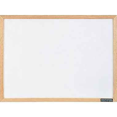 Staples® Economy Dry-Erase Board, Solid Oak Frame, 36