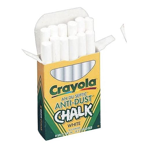 Crayola® Anti-Dust® Chalk, White | Staples