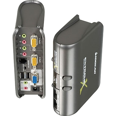 IOGEAR® MiniView™ Extreme Multimedia KVMP Switch w/Cables 2 port