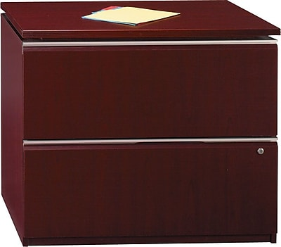 Bush Business Furniture Milano2 36W 2 Drawer Lateral File Cabinet, Harvest Cherry (50F36CS)