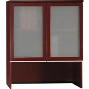 Bush Business Furniture Milano2 36W Bookcase Hutch with Glass Doors, Harvest Cherry (50HS36CS)