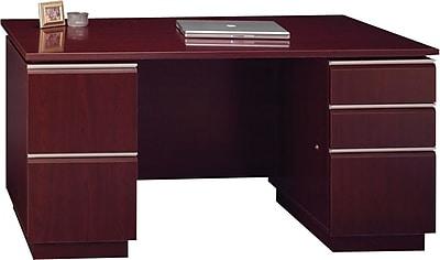 Bush Business Furniture Milano2 60W x 30D Office Desk with 2 Pedestals, Harvest Cherry (50DDP60CSK)