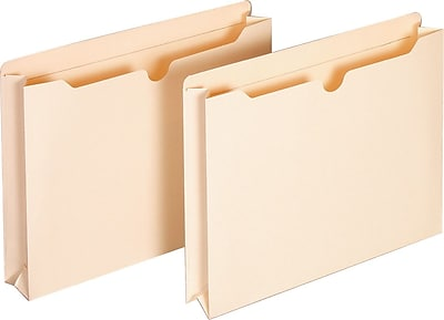 Staples 100% Recycled File Jackets, Letter, 2