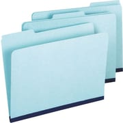 Staples® Top Tab Pressboard File Folders, 3 Tab, Letter Size, 25/Box