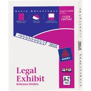 Avery® Legal Exhibit Dividers, Premium Numerical Collated Sets