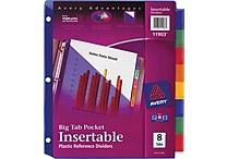 Avery® Slash Pocket Insertable Tab Dividers, 8-Tab