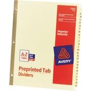 Avery® Gold Reinforced Preprinted Alphabetical Tab Dividers, A-Z