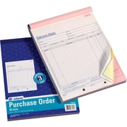 Adams Purchase Order Forms, 8 3/8 inch x 11 7/16 inch , 3 Part by
