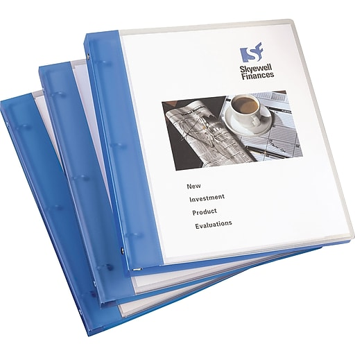 avery flexible 1 inch round 3 ring view binder blue 17675 staples