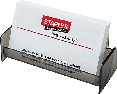 Staples Business Card Holder Smoke Staples