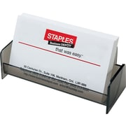 Staples® Business Card Holder, Smoke