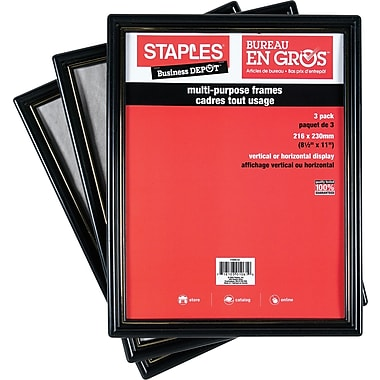Staples Document Frames 8 12 X 11 Black With Gold Trim Staples