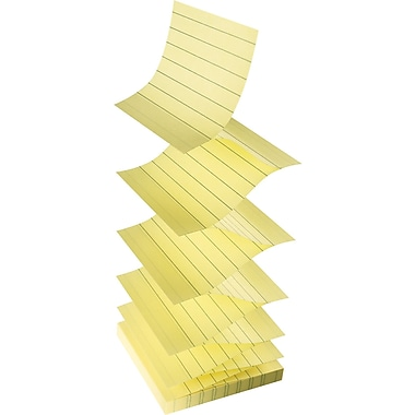 Post-it® Pop-Up Notes, 3'' x 3'', Lined, Canary Yellow, 6/Pack