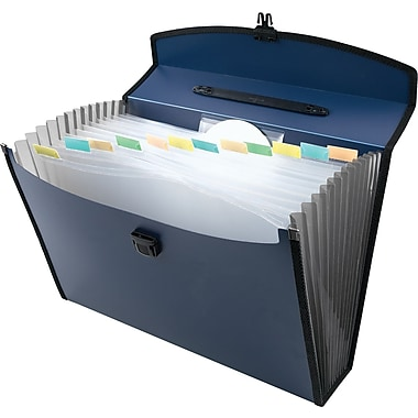Staples® 13-Pocket Poly Portable Expanding File, Legal Size