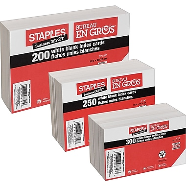 Staples® Index Cards, 4