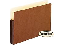 Pendaflex® WaterShed® 3-1/2' Top Tab File Pockets, Letter Size, Brown, 10/Box (35247)