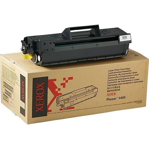 xerox phaser 5400 black toner cartridge 113r00495 staples. Black Bedroom Furniture Sets. Home Design Ideas