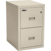 Fire King 1 Hour Fire Resistant Vertical Filing Cabinet, Letter/Legal, 2 Drawer, Parchment, 22 1/8 inch D, Truck to... by