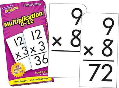 Worksheets Flashcards Of Multiplication trend enterprises multiplication 0 12 flash cards cards