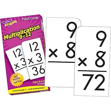 Trend Enterprises Multiplication 0-12 Flash Cards