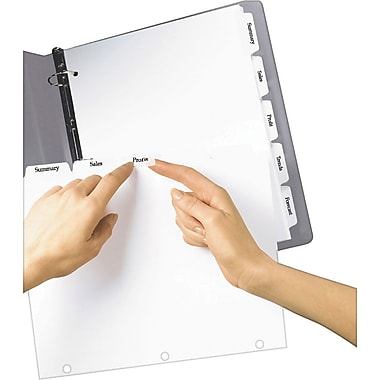 Avery Index Maker® White Dividers with Clear Tab Labels for Copiers, 5-Tab