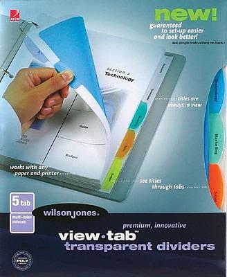 Wilson Jones® 5-Tab Multi-Color Set, Traditional Tab