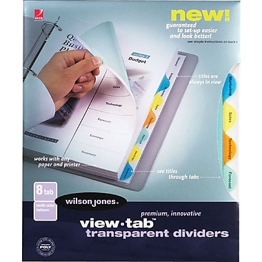 Wilson Jones® View Tab Transparent Dividers