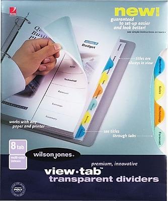 Wilson Jones® 8-Tab Multi-Color Set, Round Tab