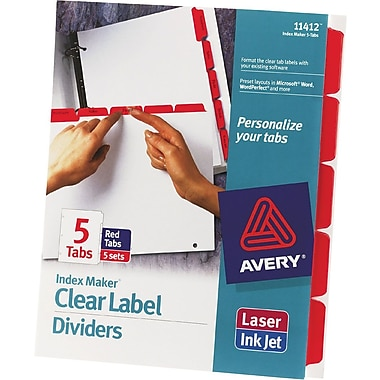 Avery Index Maker® White Dividers with Color Tabs for Laser and Inkjet Printers