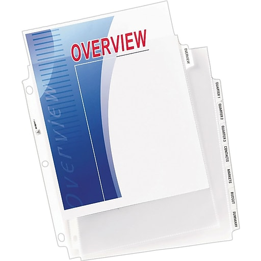 Avery® Index Maker® Clear Pocket Clear Label Tab Dividers
