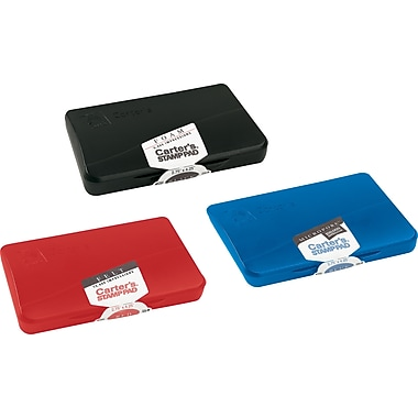 Carter's Felt Stamp Pad, Black, 3 1/4
