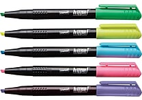 Staples Hype!™ Pen-Style Highlighters, Assorted, 6/Pack (10398-CC)