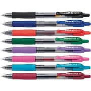 Pilot G2 Premium Retractable Gel Roller Pens, Fine Point, Assorted Colors, 8/Pack (31128)