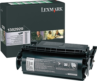 Lexmark 1382929 Black Return Program Toner Cartridge for Label Applications, High Yield
