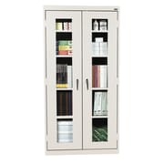 "Sandusky Clear View Tall Storage Cabinet, 72""H x 36""W x 18""D, Burgundy"