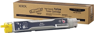 Xerox Phaser 6350 Yellow Toner Cartridge (106R01146), High Yield