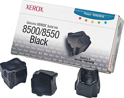 Xerox Phaser 8500/8550 Black Solid Ink (108R00668), 3/Pack
