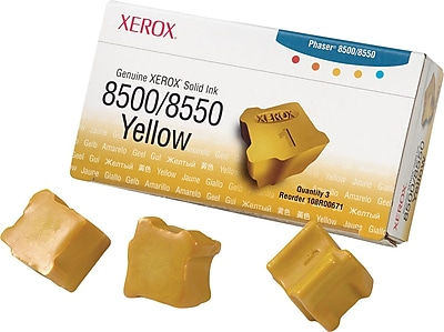 Xerox Phaser 8500/8550 Yellow Solid Ink (108R00671), 3/Pack