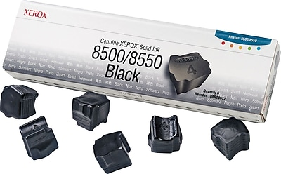 Xerox Phaser 8500/8550 Black Solid Ink (108R00672), 6/Pack