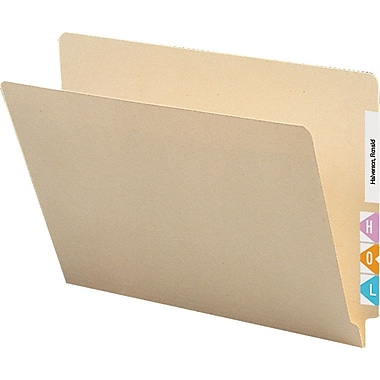 Staples® Manila End-Tab File Folders, Single-Ply Tab, Letter, 250/Box