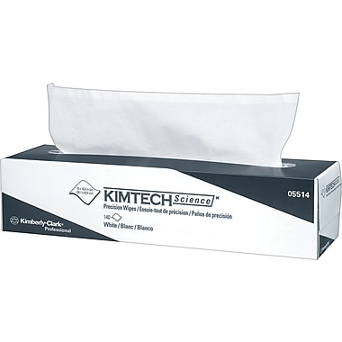 Kimberly-Clark® KIMTECH Science@ Precision Wipes Tissue Wipers, 140/Box