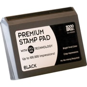 "2000PLUS®  Gel-Based Stamp Pad, Black, #2- 3 1/8"" x 6 1/16"""